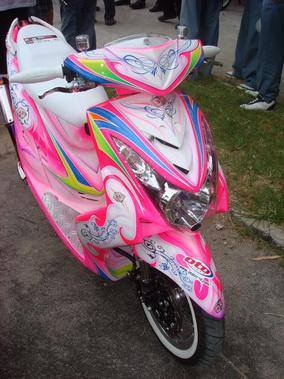 Motor Mio Pink Modifikasi